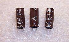 QTY (20) 2200uf 16V 105' LOW IMPEDANCE RADIAL ELECTROLYTIC EKZH160EC3222MJ ROHS