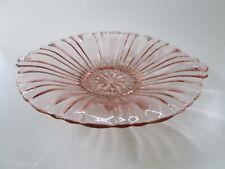 ANCHOR HOCKING Old Cafe Pink Depression Glass Shallow Bowl