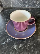 Denby STORM Plum Espresso Cup and Saucer - Excellent Condition