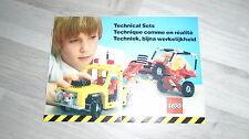 catalogue dépliant lego technic de 1984 idem 8860 8865 voiture camion pneumatic