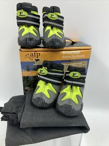 """AFP Dog All Road & Weather Boots Winter Green Small 2"""" Reflective Comfortable"""
