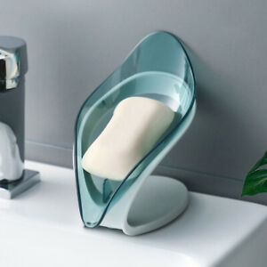 New Leaf Shape Soap Holder Soap Dish Storage Rack Soap Container for Bathroom~