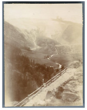 Suisse, Saas-Fee, Chemin de Croix  Vintage citrate print. Tirage citrate  8x