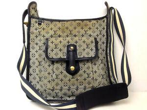 LOUIS VUITTON Monogram Mini Lin Besace Mary Kate Kahak Hand bag Crosswbody