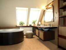 "Forna 6mm Cork Tiles Glue Down Waterproof Flooring Silver Birch 6""x6"" Samples"