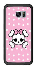 Pink Polka Dots Skull For Samsung Galaxy S7 Edge G935 Case Cover by Atomic Marke