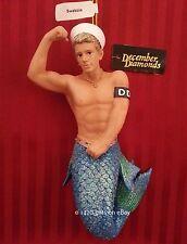 December Diamonds SWABBIE the Sailor Merman Ornament 2013, Collectible Gift Box