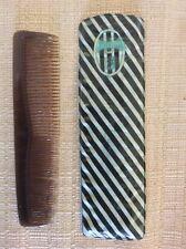 JUVENTUS F.C. CALCIO ANNI '60 PETTINE TASCABILE DA UOMO CON CUSTODIA E STEMMA