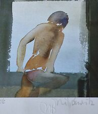 "NILS BURWITZ "" I "" HAND SIGNED NUMBERED ORIGINAL 1985 SERIGRAPH German ARTIST"