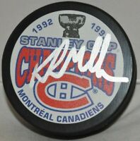 Kirk Muller Montreal Canadiens Autographed 1993 Stanley Cup Champs NHL Puck COA