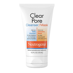 Neutrogena Clear Pore Facial Cleanser / Face Mask containing Kaolin & Bentonite