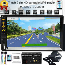 Double 2Din Bluetooth In dash Stereo Radio Player Mirror Link For Map Navigation