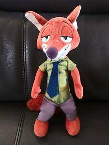 "Disney Tomy Zootopia Talking Nick Wilde Plush Stuffed Toy Doll Fox 13"" Animal"
