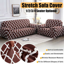 2 / 3 Seat Stretch Spandex Chair Sofa Couch Cover Elastic Slipcover Protector US