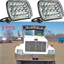 2pcs LED Headlight Crystal Sealed Beam Replace H6014 for PeterBilt 330 1995-2004