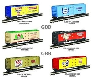 Ho Scale BEER CAR Limited Edition Advertising Freight Car Set Model Power 98706