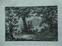 1845 Zuccagni-Orlandini Veduta del Lago di Albano nella Comarca di Roma