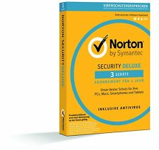 Norton Security Deluxe Antivirus Software 2018 / 2019 Virenschutz III PC