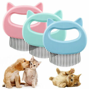 Dog Cat Massage Shell Comb Grooming Hair Removal Shedding Pet Cleaning Brush