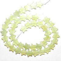 """NG2465f Sea Green New Jade 10mm Flat Star Natural Serpentine Gemstone Beads 16"""""""