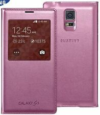 SAMSUNG GALAXY S5 ROSA S VIEW FLIP CASE ORIGINALE ef-cg900bpeg NUOVO nel Retail Pack
