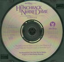 The Hunchback Of Notre Dame Sampler PROMO Music CD Walt Disney Alan Menken 4trk