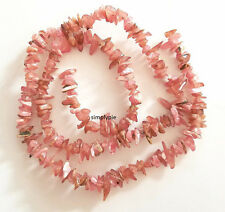 Pink Rhodochrosite Chips Gemstone Beads 16-Inch Long Strand New Arrivals