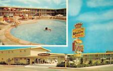 SAN BERNARDINO, CA California SAHARA MOTEL Pool~Bathing Beauty ROADSIDE Postcard