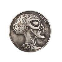 New Hobo Coin Alien Hobo Nickel American USA Casted Collectible Challenge Token