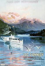 Affiche chemin de fer PLM - Lac d'Annecy