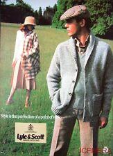 1979 'LYLE & SCOTT' Scottish Knitwear Advert #1 - Original Fashion Print AD