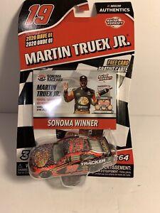 1:64 Die cast 2020 NASCAR Authentics Wave 01 Martin Truex Jr. #19 Sonoma Winner
