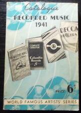 Australian EMI RECORD CATALOGUE 1941