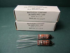 5899 Vacuum Tubes Jan Raytheon Matched Pair Vtg Nos Audio Amplifier Tv7 Tested