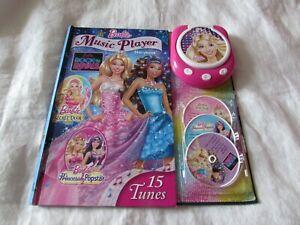 Barbie Music Player Storybook 3 CD's 15 tunes Princess & Popstar Secret Door
