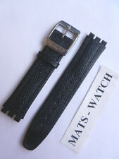 Swatch + irony Big + Black +17 mm + cuero + nuevo/new