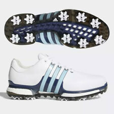 ADIDAS MEN'S TOUR 360 BOOST 2.0 GOLF SHOES SIZE:US 9 *WIDE* WHITE/ICE BLUE 19347