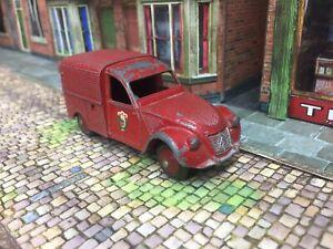 Original -French Dinky Citroen 2cv Fire Van