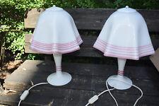1 paar 70er Stehlampe Tischleuchte Schmöker Leuchten Norderstedt NOS Lamp glas