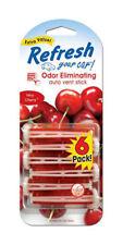 Refresh Auto Vent Stick Car & Home AC Air Freshener, Very Cherry Scent -6 Sticks