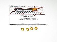 Team Durango TD709055 Aluminum Spacers 8X3X.5mm Gold (4) New TDRC7219