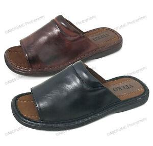 Brand New VEEKO Men's Slides Sandals Comfortable Flip Flops Slip On Slippers