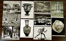 Rue du Stade Body Guard Soldiers ATHENS GREECE 10 Real Photo Postcards 1950-60's