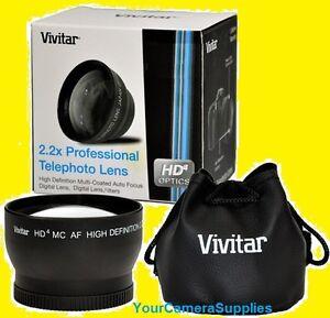 2.2x Vivitar HD4 Telephoto Lens 67mm ZOOM to Camera NIKON EOS REBEL DSLR SLR 2.5