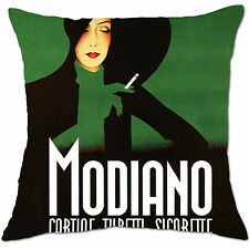 modiano black and green vintage cigarettes cushion covers