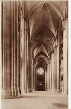 Antique POSTCARD Nave St. John Cathedral NEW YORK, NY