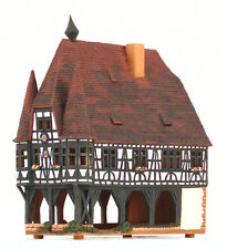 Candle holder ceramic house 'Town Hall in Michelstadt,Germany' 26cm, © Midene