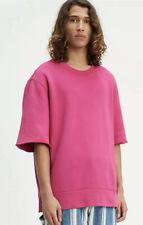 Levi's Made & Crafted Pink Boxy Cut Off Crewneck Sweatshirt Medium M MSRP $198