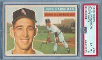 1956 Topps #29 Jack Harshman WHITE BACK PSA 6 Chicago White Sox