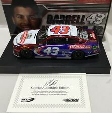 "2018 1/24 #43 Darrell Wallace Jr. "" Farmer John "" Color Chrome Autographed 1/ 48"